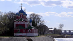 Church of the Dmitry in Uglich, Russia. Time lapse. Stock Footage