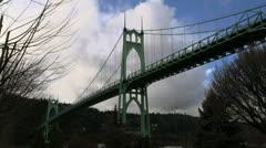 St. Johns suspension bridge Stock Footage