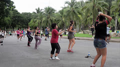 Dance aerobics Stock Footage