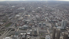 Chicago Skyline Rush Hour Intersection, Aerial View, Motorway Road, Roadway  Stock Footage