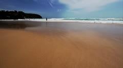 Sandy beach - stock footage