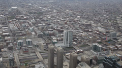 Aerial View Chicago Skyline Urban Scene, Automobiles Drive Crossing, Crossroad  - stock footage