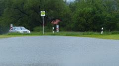 Traffic in the Rain Stock Footage