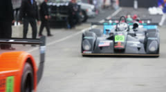 Racing cars enter to competition Stock Footage