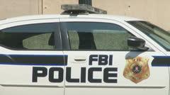 F.B.I. Patrol Car Stock Footage