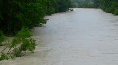 high water level of river ammer - stock footage