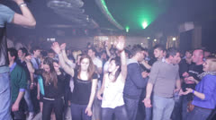 Girls getting wild on the dance floor - disco - nightclub - discotheque Stock Footage