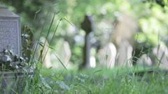 An English graveyard in the summer sun Stock Footage