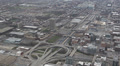 Chicago Skyline Transportation Traffic Jam Congestion Underpass, Aerial View Footage