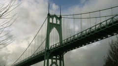 Below St. Johns Bridge Stock Footage