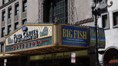 Ford Center Performing Arts Oriental Theatre Randolph Street Downtown Chicago Stock Footage