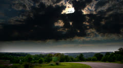 HDR of Beautiful cloud time lapse. Stock Footage