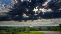 Scenic HDR TIme lapse landscape Stock Footage