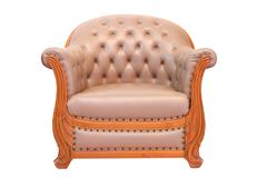 classical stylish armchairs isolated - stock photo