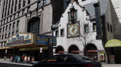 Famous Oriental Theater State Street Chicago Illinois Iconic Theatre People Walk Stock Footage