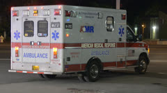 Ambulance at crime scene - stock footage