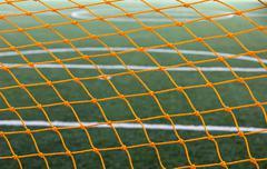 Artificial grass soccer field Stock Photos