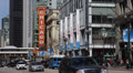 Theatre Sign, State Street, Famous Chicago Theater, Traffic Jam, People Walking HD Footage