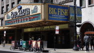 Stock Video Footage of Oriental Theatre Famous Landmark Chicago Theater District Loop Area Downtown Day
