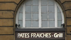 France - Lorraine - Pates - Fraiches - Grill Stock Footage
