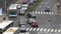 Luxembourg - traffic - stock footage