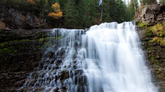 Scenic Montana Waterfall Stock Footage