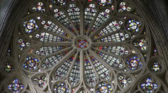 Metz - Cathedral - Window Stock Footage