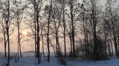 Beautiful landscape in winter Stock Footage