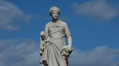 Paris Statue - Jardin des Tuileries - La Comédie, 1874. Stock Footage