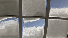 Germany - snow on a winter garden roof - stock footage
