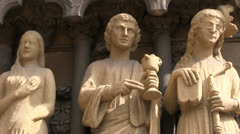 Trier - Germany - Statues Stock Footage