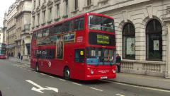 London red bus Stock Footage