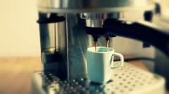 Coffee espresso of coffee machines Stock Footage