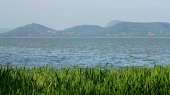 Landscape from lake Balaton (Hungary) Stock Footage