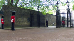 Changing of the Guards in London Stock Footage