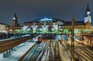 Stock Photo of the railway station in hamburg, germany