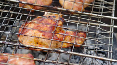 Sirloin steak prepared Stock Footage