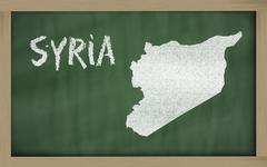 ääriviivat kartta Syyrian liitutaululle Piirros