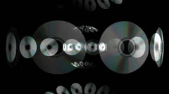 Scrolling CDs DVDs Motion Mapping Stock Footage