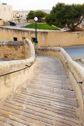 ancient stairs in the castle rabat (victoria) - stock photo