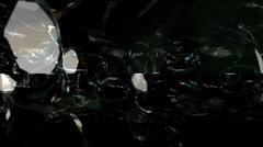Falling Diamonds Motion Mapping - stock footage