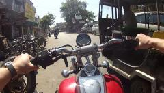 Traveling by motorcycle Stock Footage