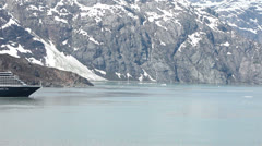 Holland American Cruise ship Glacier Bay Pt 1 HD 1420 Stock Footage