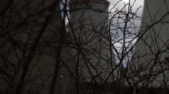 Thorn bush power station Stock Footage