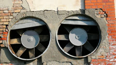 Two big old fans Stock Footage