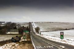 Icy Road Stock Photos