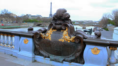 Paris, Pont Alexandre III, France - City 50 - stock footage