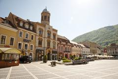 City center of brasov, romania Stock Photos