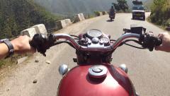 Motorbike travel in India Stock Footage