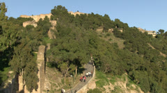 Malaga Gibralfaro Hill Stock Footage